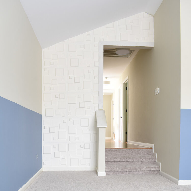 paint and wall treatments in a really large open concept room