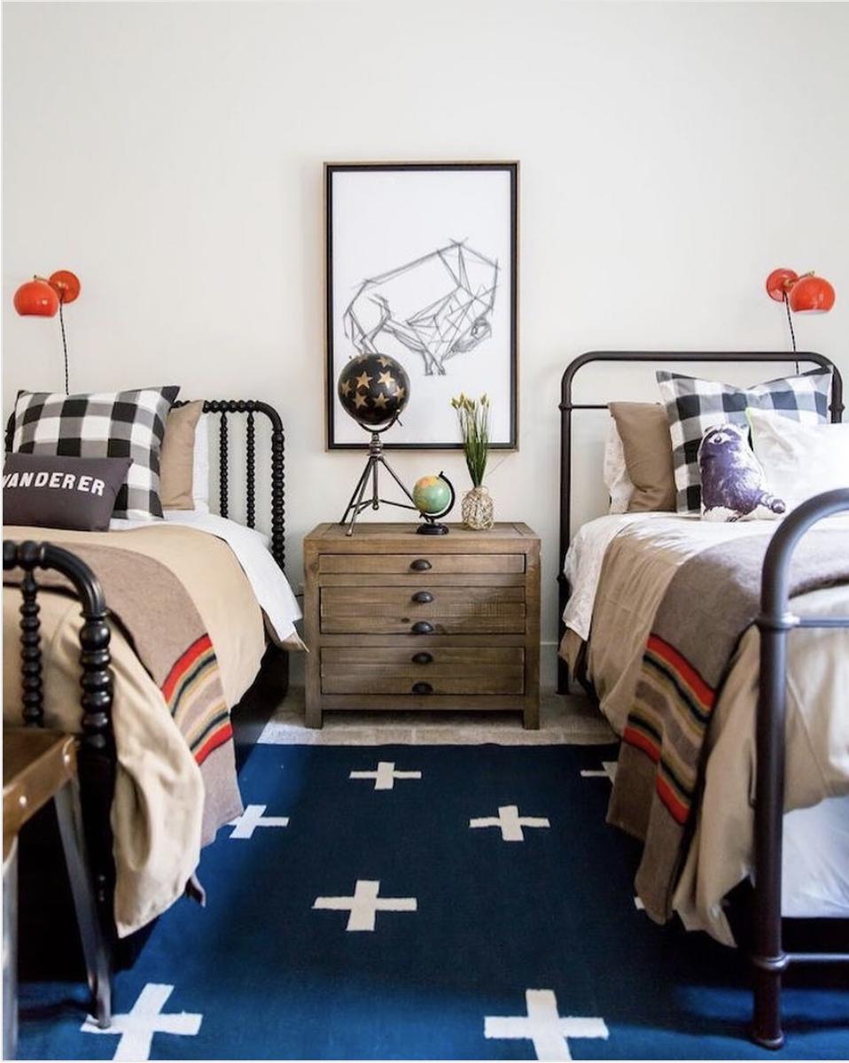 Schoolhouse Style Bedroom designed by Becki Owens