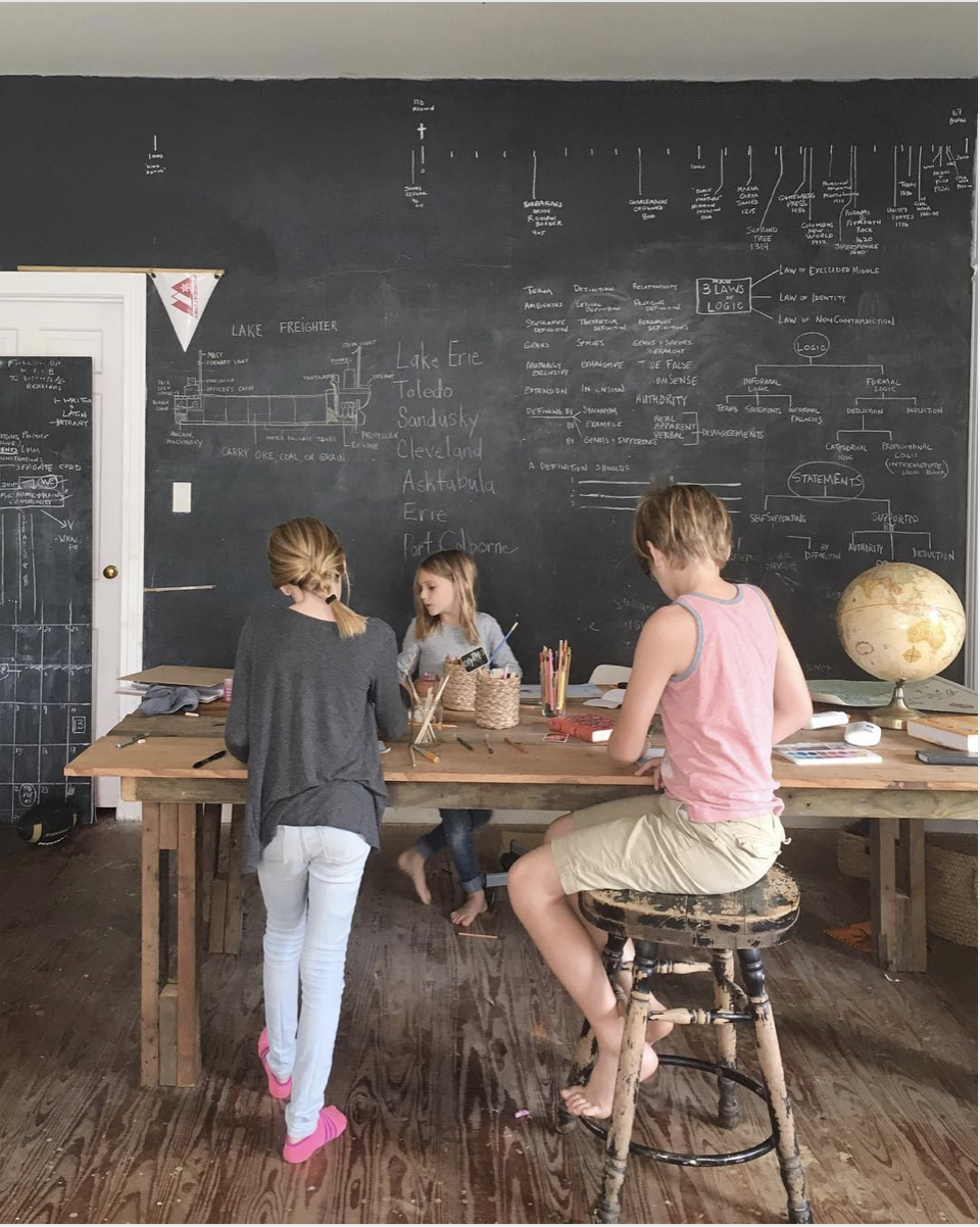 Schoolhouse Style Dining and Activity Room