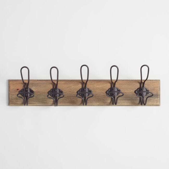 wall hook rail with industrial style