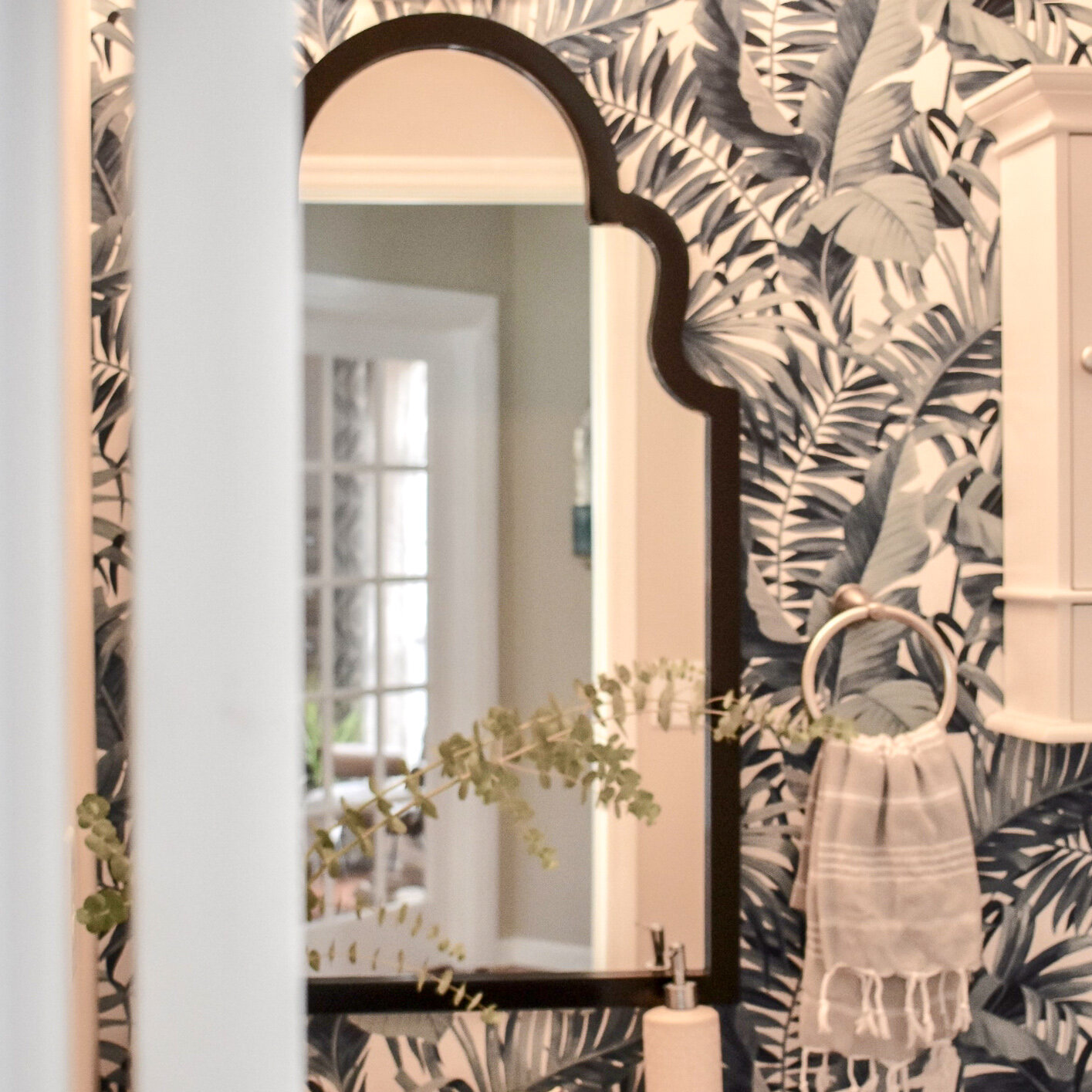 shop my suburban powder room makeover