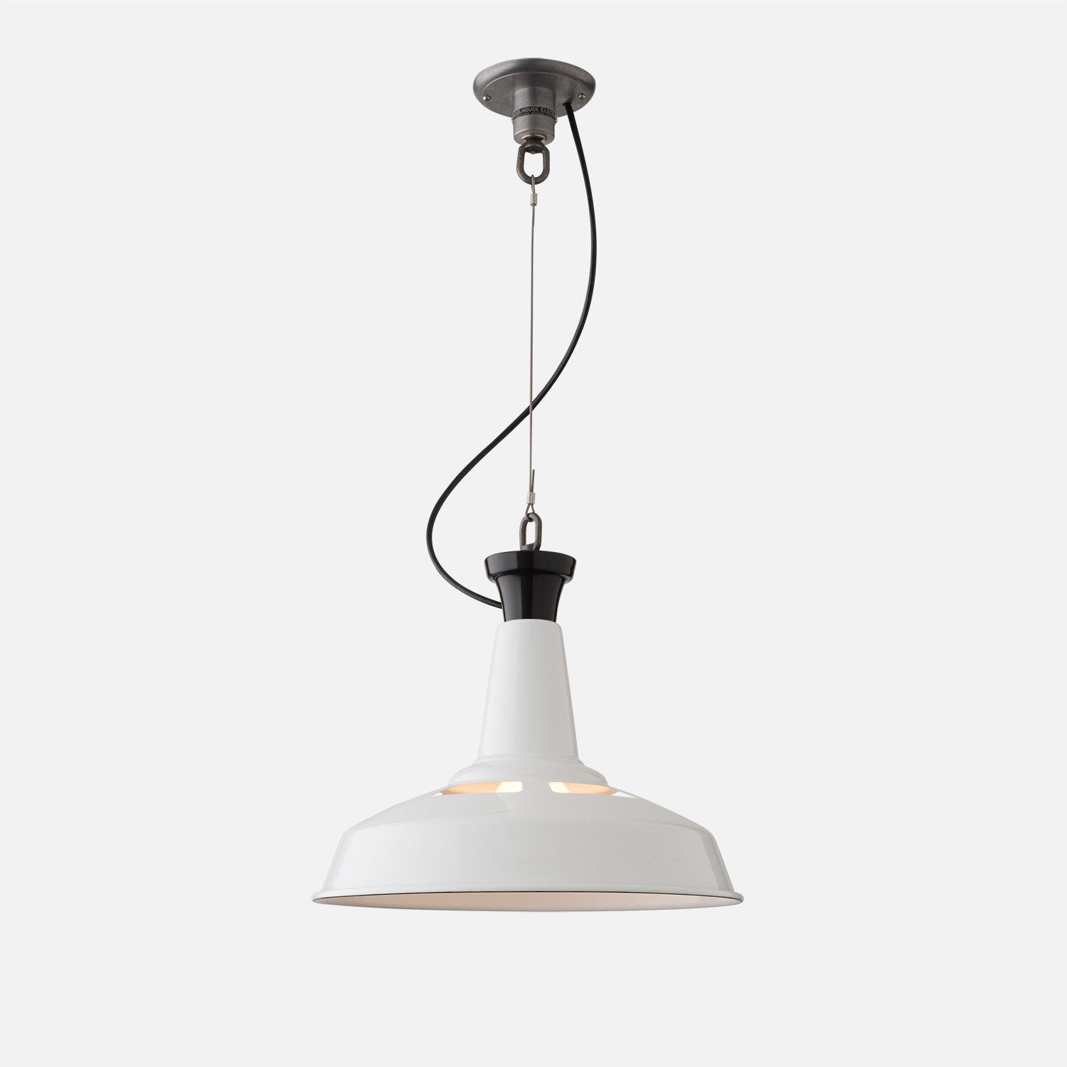 Factory pendant in black and white from Schoolhouse