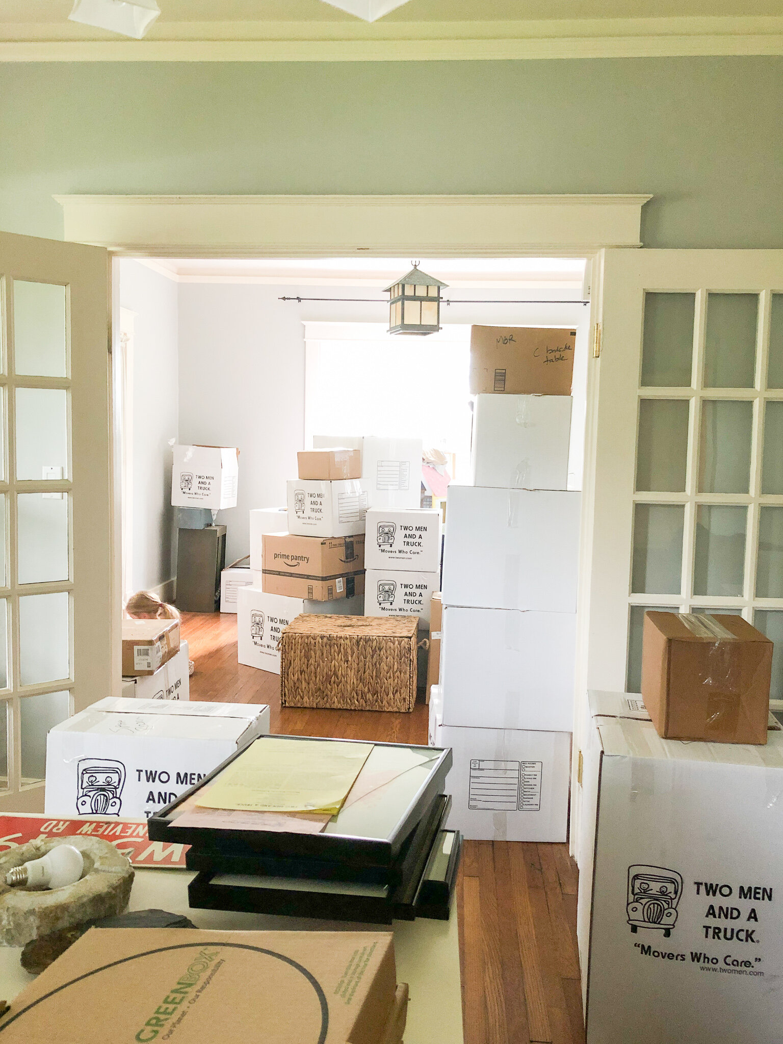 our 1920s bungalow on move-in day