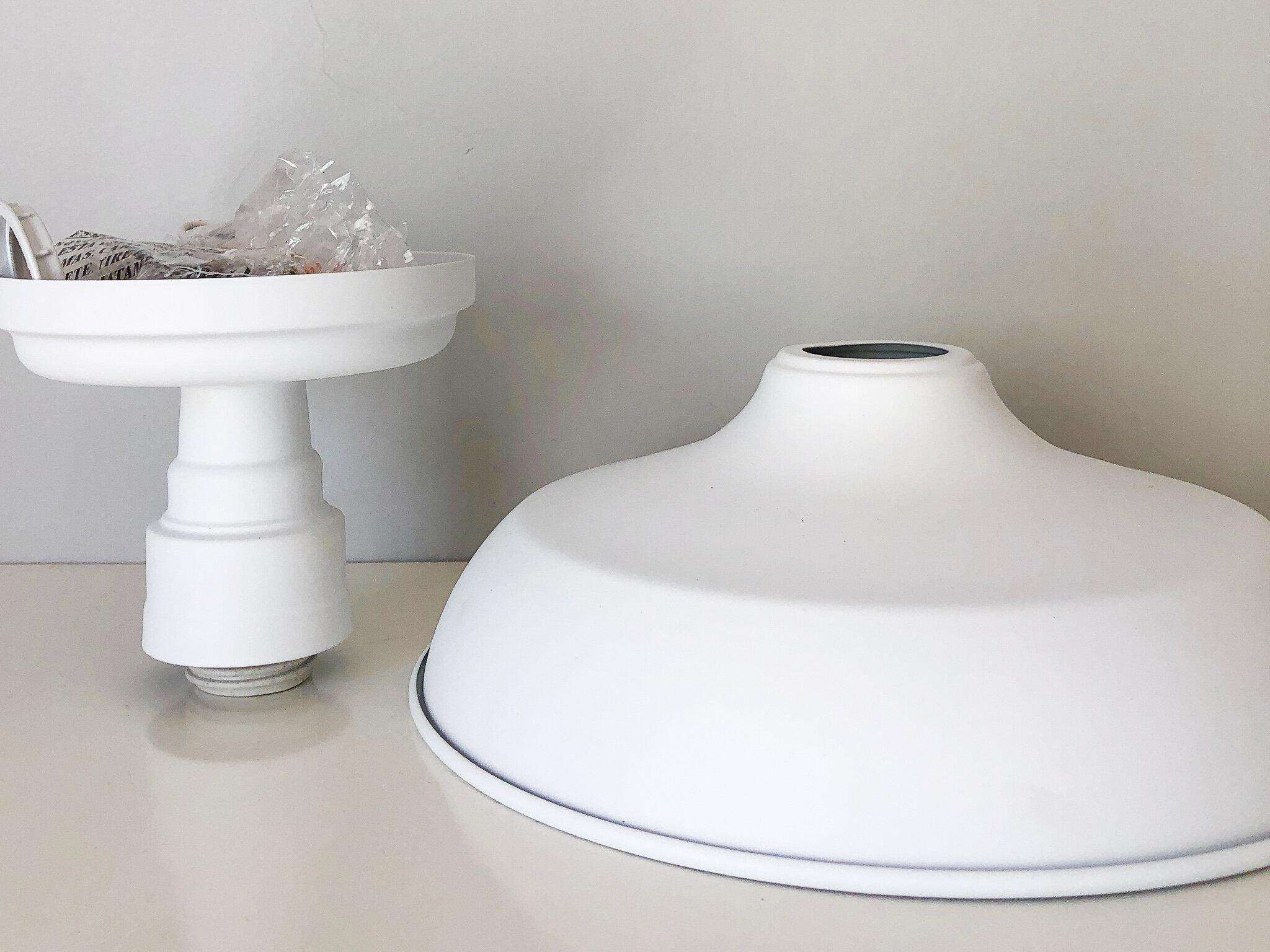 DIY factory pendant light