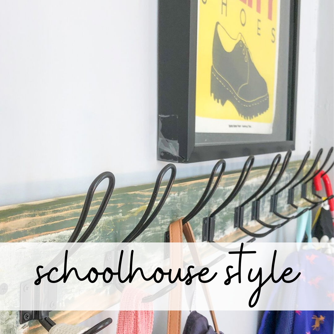 decorating with schoolhouse style in a small bungalow