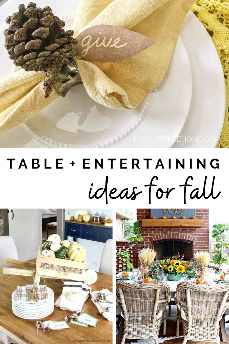 DIY home decor crafts and ideas - Tablesettings for Fall #thanksgiving #falldiy #tablescapes