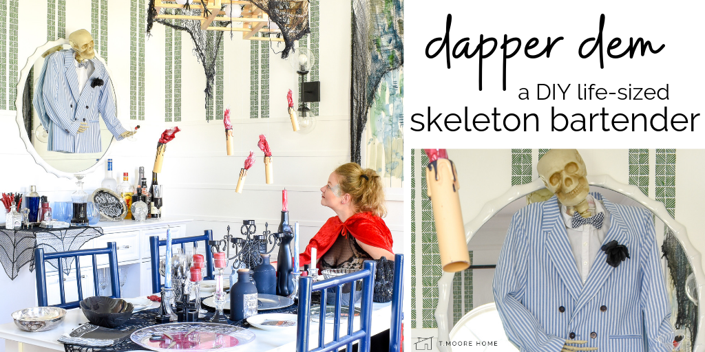 Diy Halloween Decorations Life Sized Skeleton Bartender T