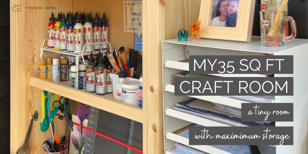 Small Space Into A Dream Craft Room, Storage Ideas For Small Spaces On A Budget