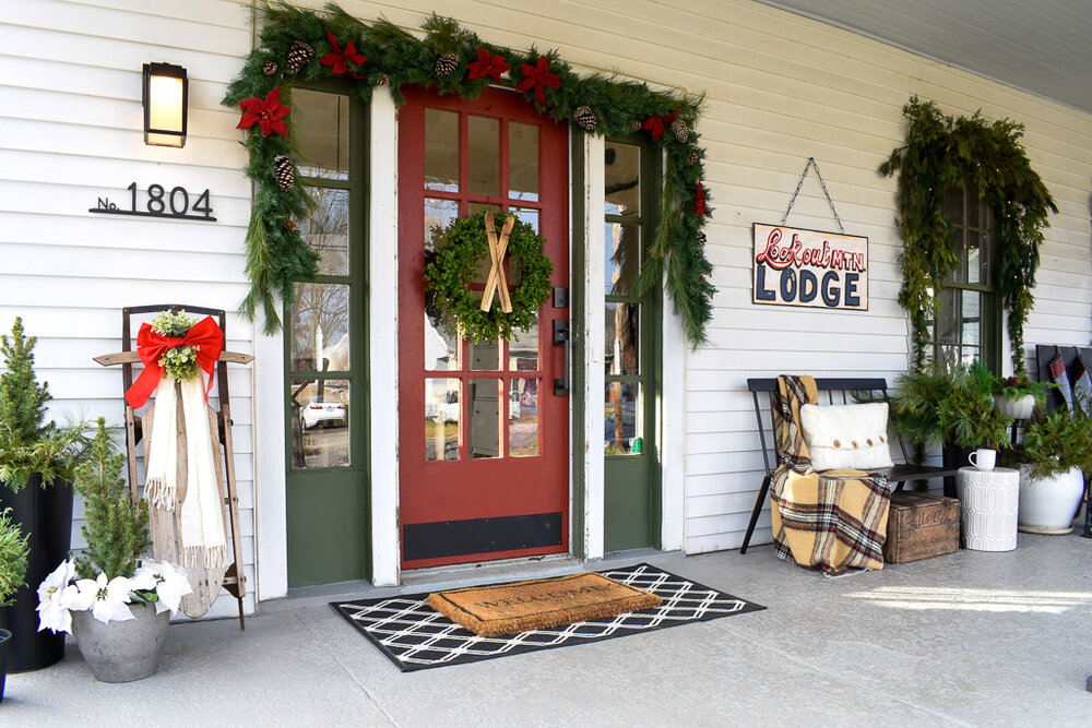 christmas porch decorating ideas pictures