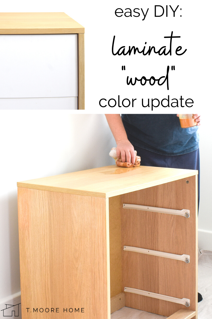 How To Stain Laminate Furniture Changing Colors Of Fake Wood T