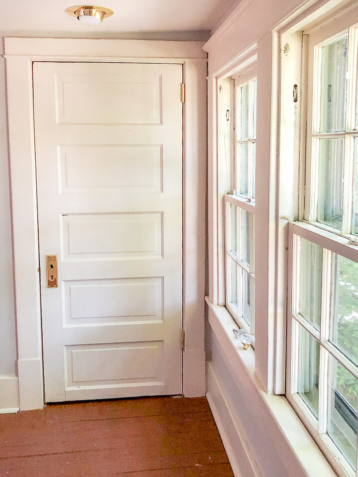 historic doors in a 1920s craftsman or california bungalow
