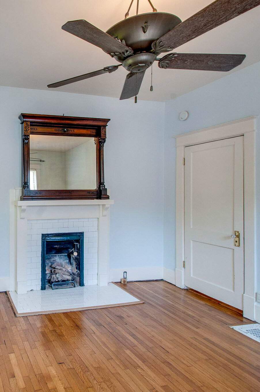 historic fireplace and mantel
