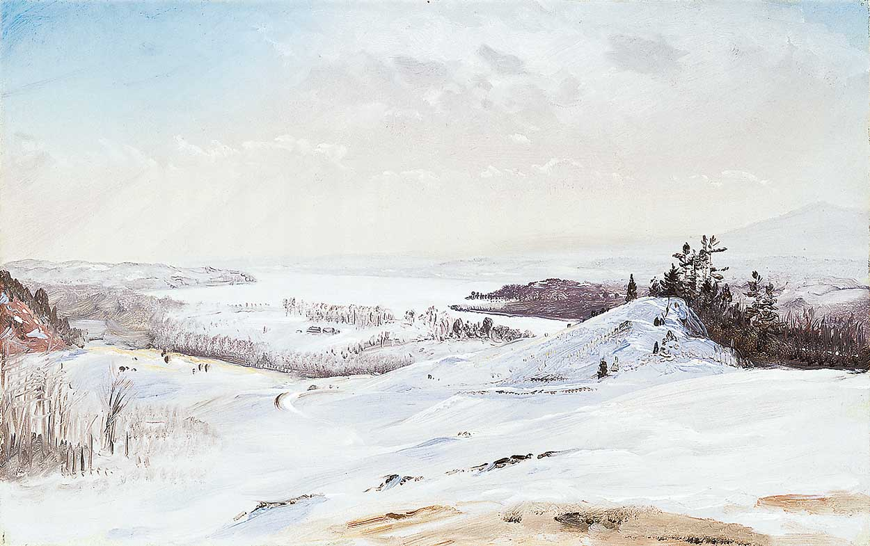"""""""View from Olana in the Snow"""" — Frederic Edwin Church"""