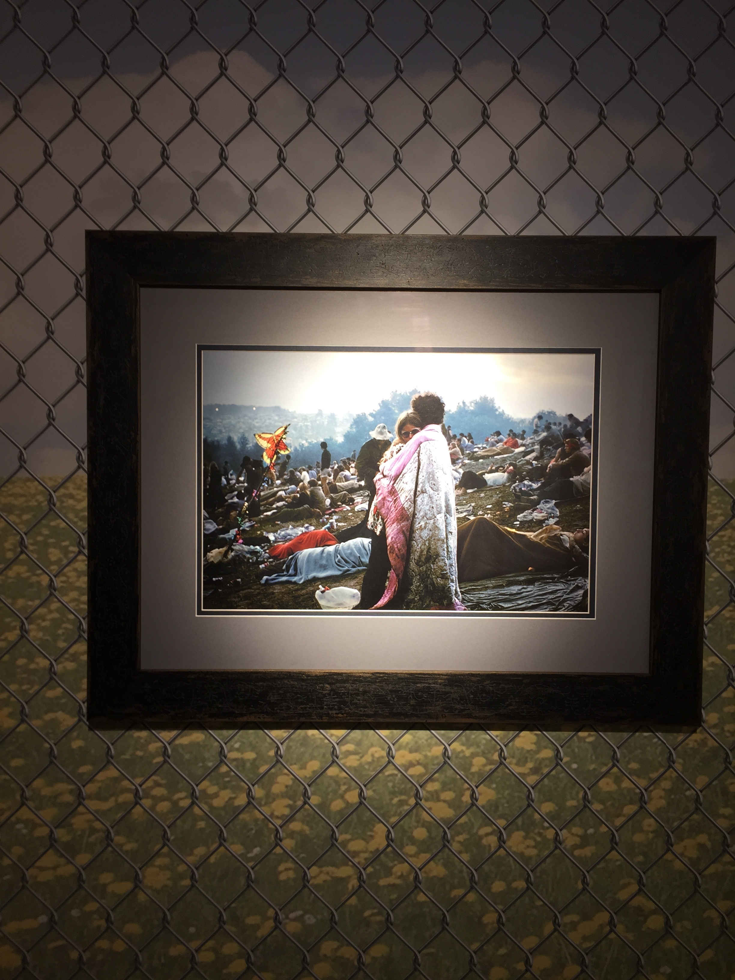 """Photograph from the original Woodstock festival is part of the exhibition: """"We Are Golden: Reflections on the 50th Anniversary of the Woodstock Festival and Aspirations for a Peaceful Future"""" at Bethel Woods."""