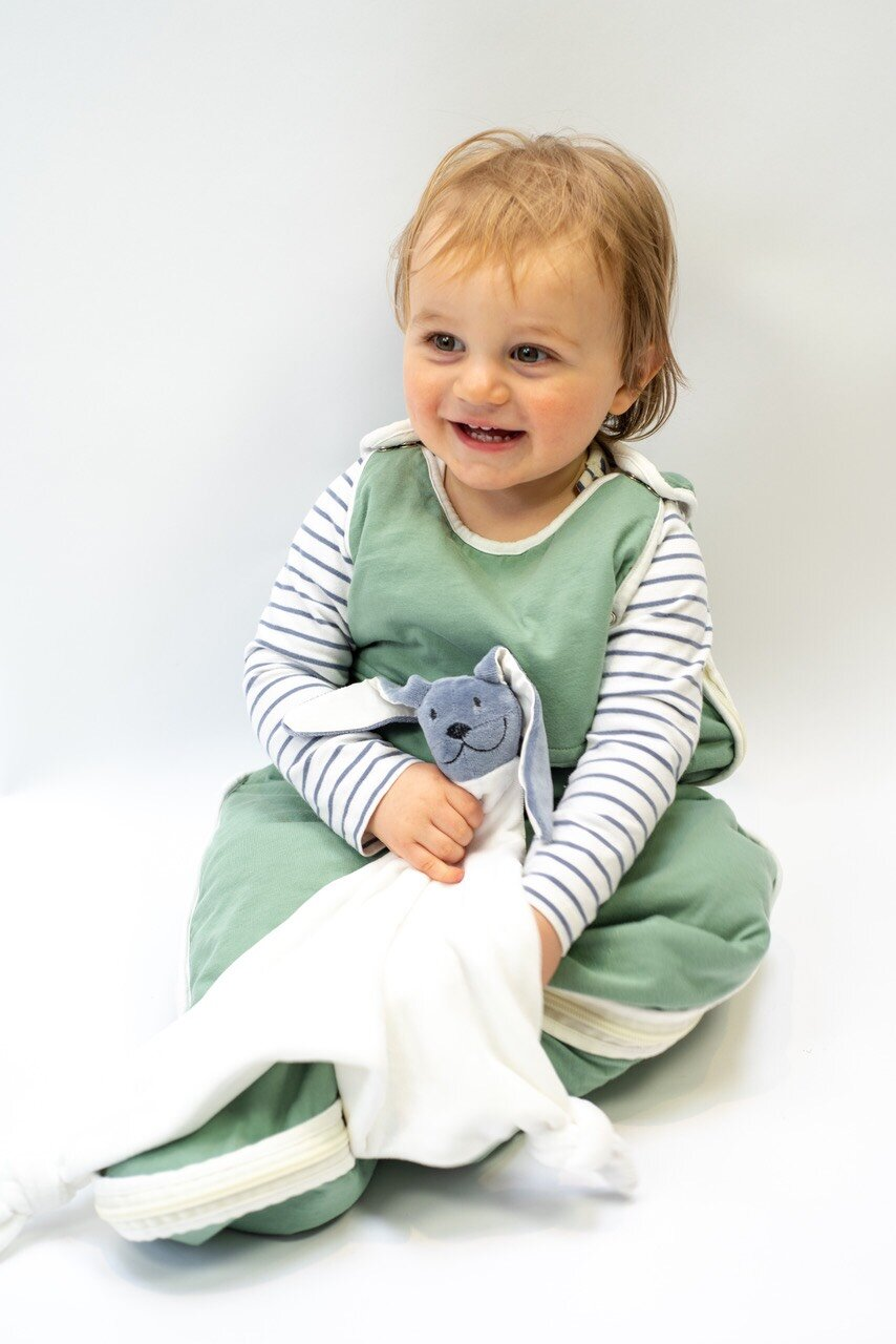 Organic baby comforter -  Moonlight Bunny
