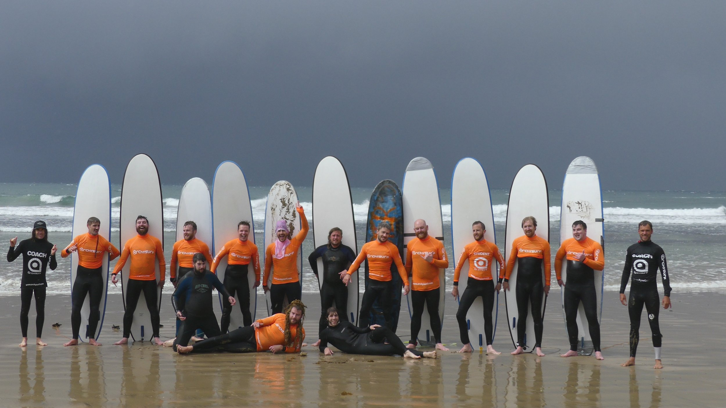 GROUP SURFING LESSONS  - ALL EQUIPMENT & COACHING PROVIDED, ACCOMODATION AVAILABLE, BEGINNER /INTER / ADVANCED, ALL TYPES AND OCCASIONS, ALL LEVELS  PUBLIC DAILY SESSIONS  OR BY BOOKING, LEARN TO SURF THE BEST WAY WITH THE RIGHT SURF COACHING, LEARN THE  CORRECT BASICS IN JUST 1 SURFING LESSON , STAND UP; LEARN HOW TO SURF WITH CORRECT TECHNIQUE, LEARN THE EASY SIMPLE WAY TO STAY SAFE AND ENJOY THE SURF,  ARCHYSURF IS THE LEGIT BEST POSSIBLE SURFING EXPERIENCE WITH PROVEN TRACK RECORD OF STOKED SURFERS AT ALL LEVELS
