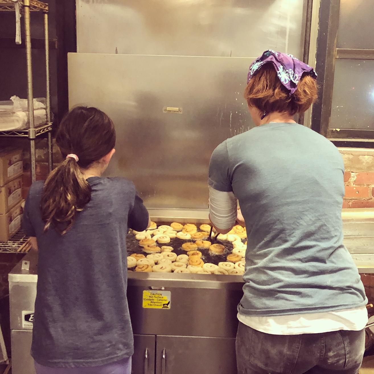 Frying Doughnuts with Josie