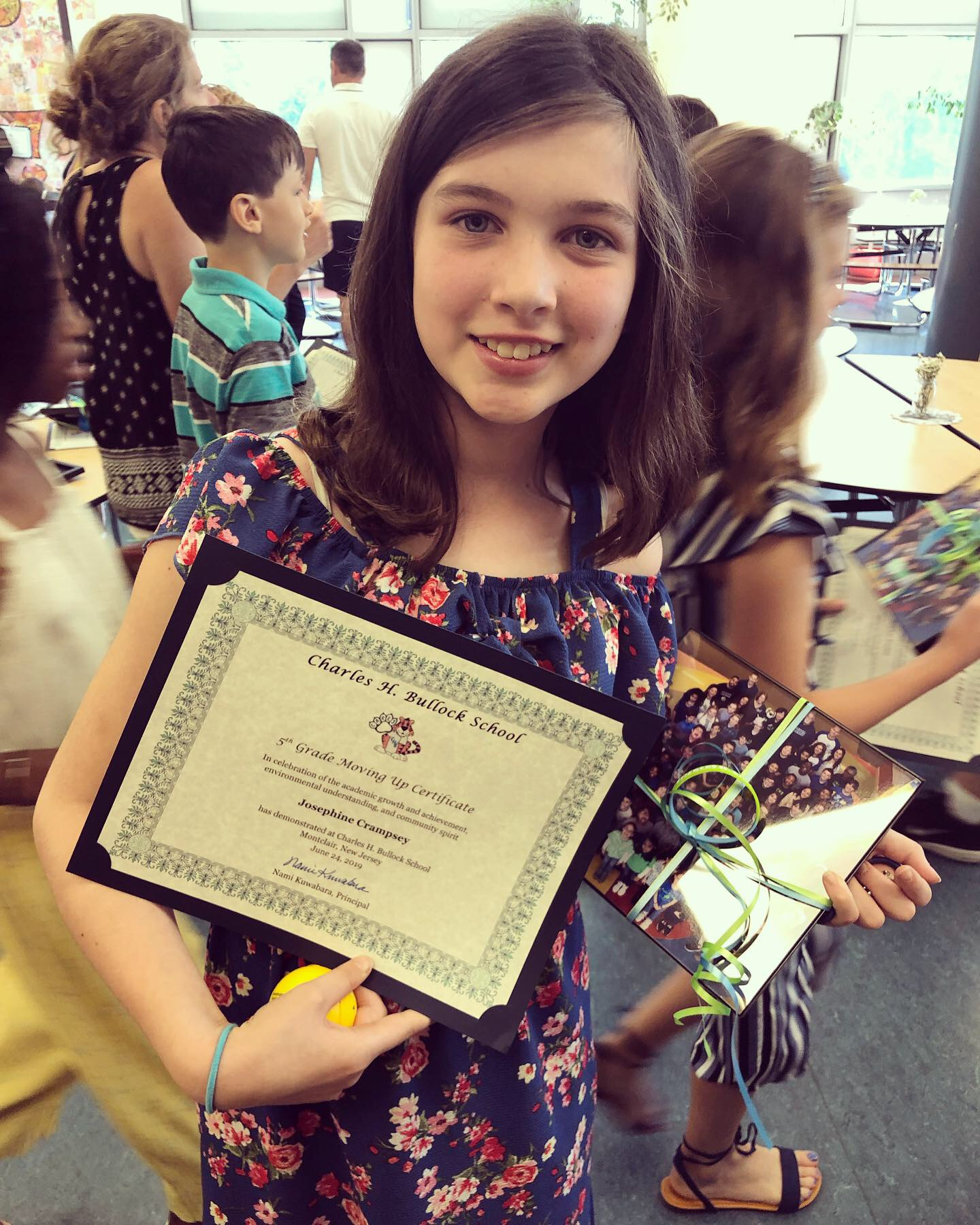 A very big week for Josie - Monday was her 'Moving Up' ceremony marking the end of 5th grade and the beginning of middle school!!!