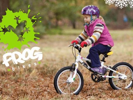 Frog Bikes - The founders, Jerry and Shelley, are a couple who have 2 small children of their own – both keen cyclists. So they know something about what motivates children to get on their bikes! Since the first prototype arrived, the bikes have always been robustly tested by the children and all their friends.