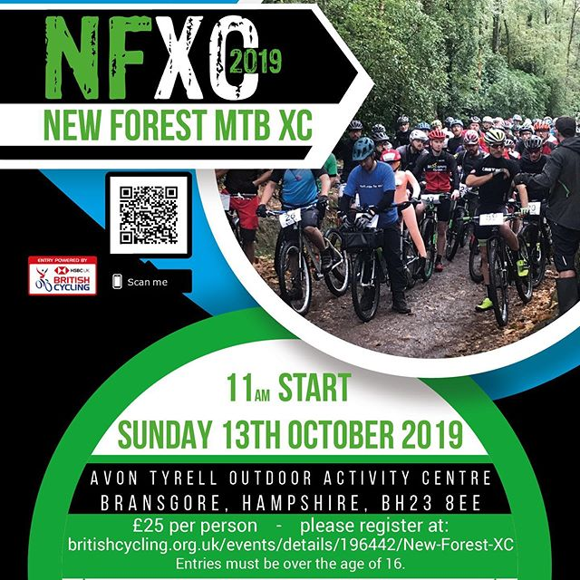 Pleased to be supporting the NFXC 2019 event come down and see us at Avon Tyrell Sunday 13th of october, If you feel like racing please register with the link below 👇👇👇 www.britishcycling.org.uk/events/details/196442/New-Forest-XC--