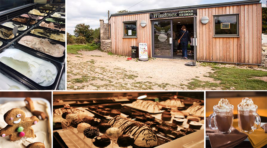 Winstones Ice Cream - On the edge of of the National Trust's Rodborough Common, their ice cream parlour shop serves more than 100,000 happy customers per year. The ice cream is wonderful, and the flavours are simply divine. Well worth the walk!