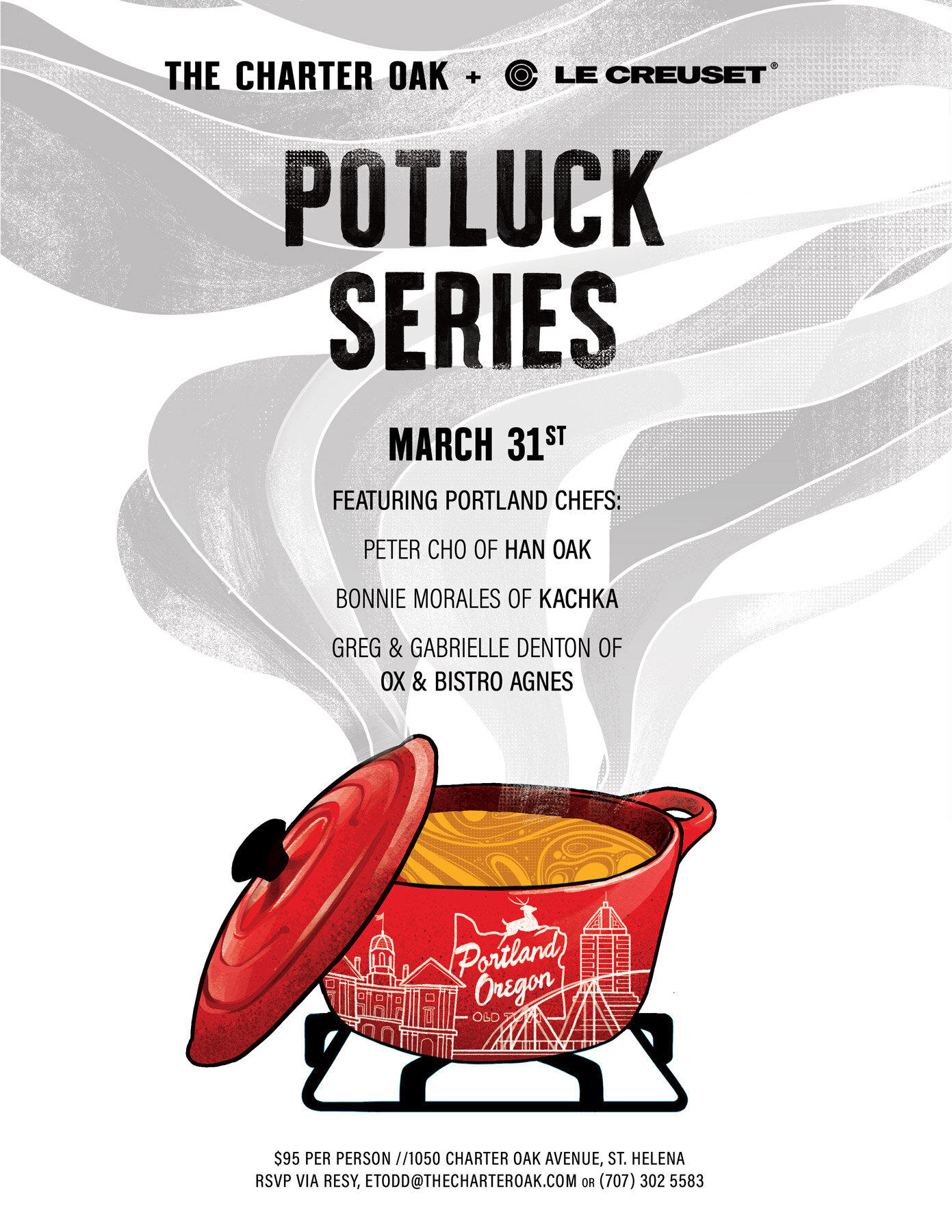 Charter Oak Potluck Series with Le Creuset