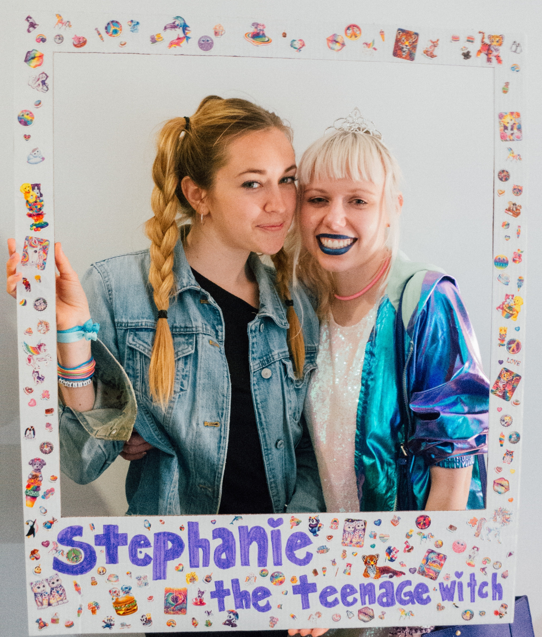 Photo booths: they're fun, they're easy, and mine were portable! I actually had some of the most fun making these giant Polaroid cut outs.