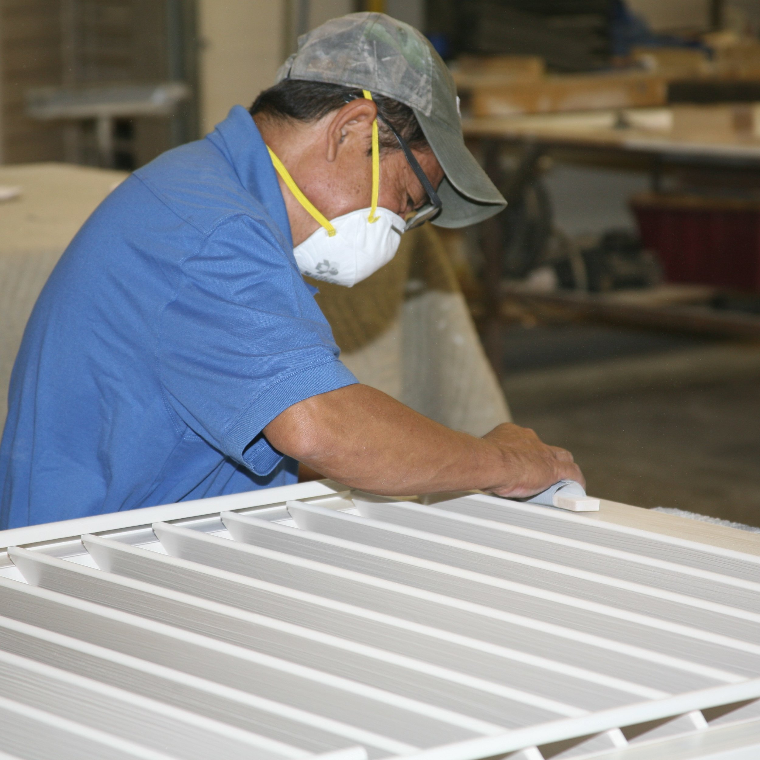 Victor - Victor has been in the window covering industry for 15 years, and handles all the framing of our shutters. Once designed, Victor cuts and sands all of our in-house built frames and shutter panels.