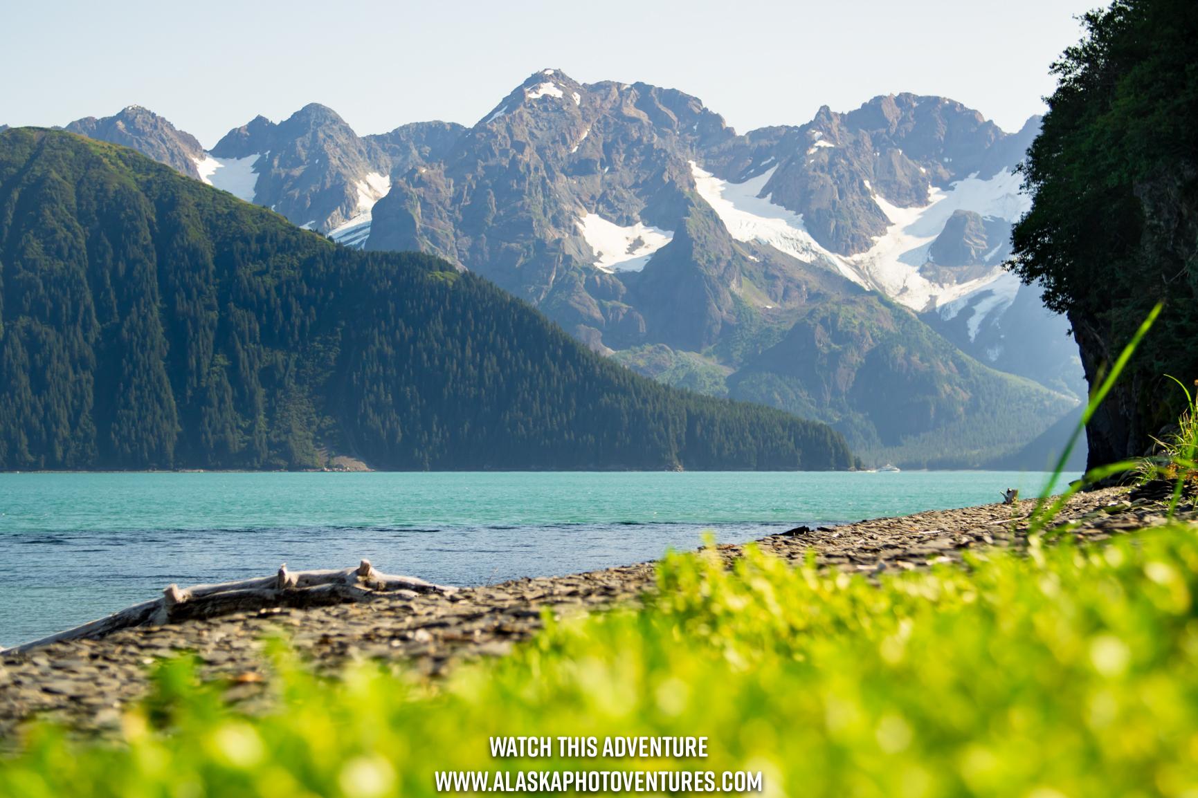 Alaska Mountains Resurrection Bay at Caines Head Seward Alaska