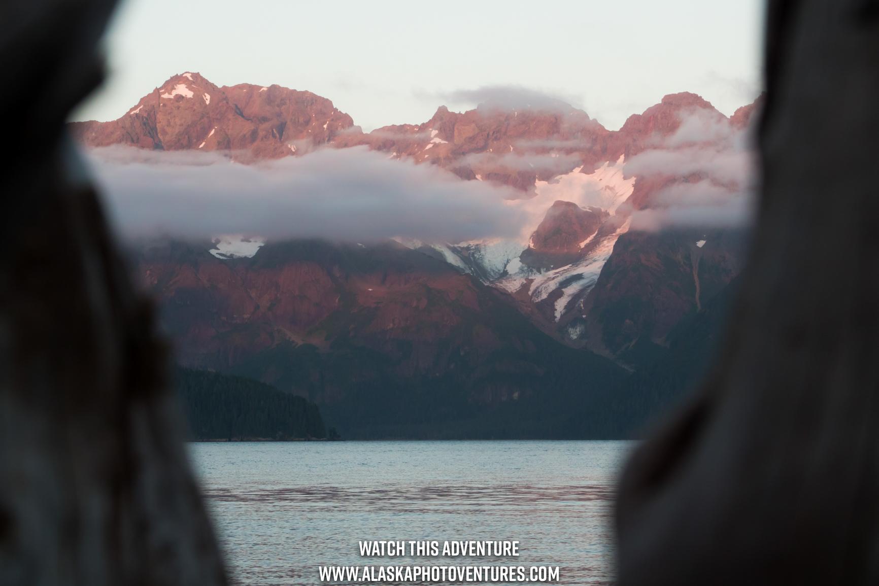 Mountains in Caines Head Seward Alaska