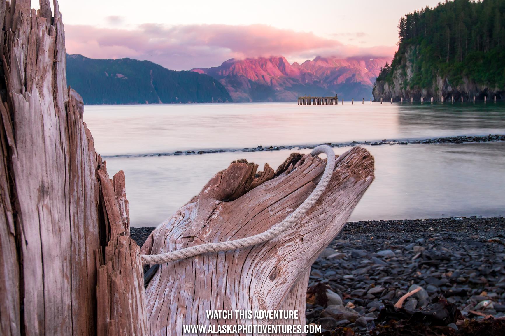 North Shore Dock at Caines Head Alaska