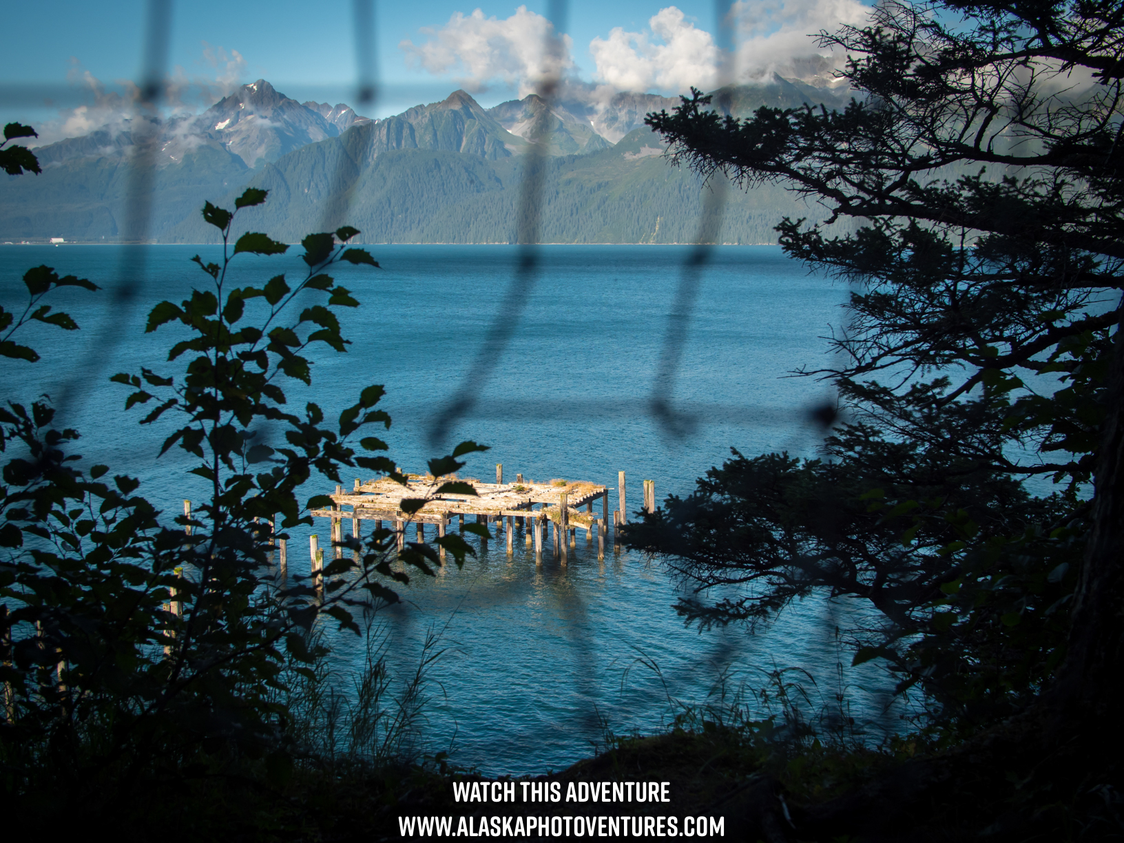 Old US Army pier at Caines Head Alaska