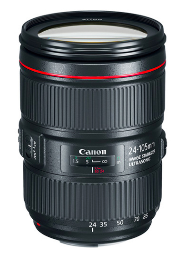 Canon 24-105mm - If I have to pack one lens, this is the one I grab. It's a bit slower of a lens at f/4 but the zoom range makes it worth it. Also the image stabilization is great (most Canon lenses are) which helps when I'm going handheld at 105mm!