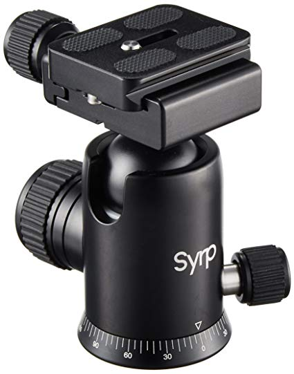 Syrp Ballhead - Smooth, like butta. Does well in the cold, has good rubber dials, rubber pads on the plate and the numbers at the bottom are a big help too.