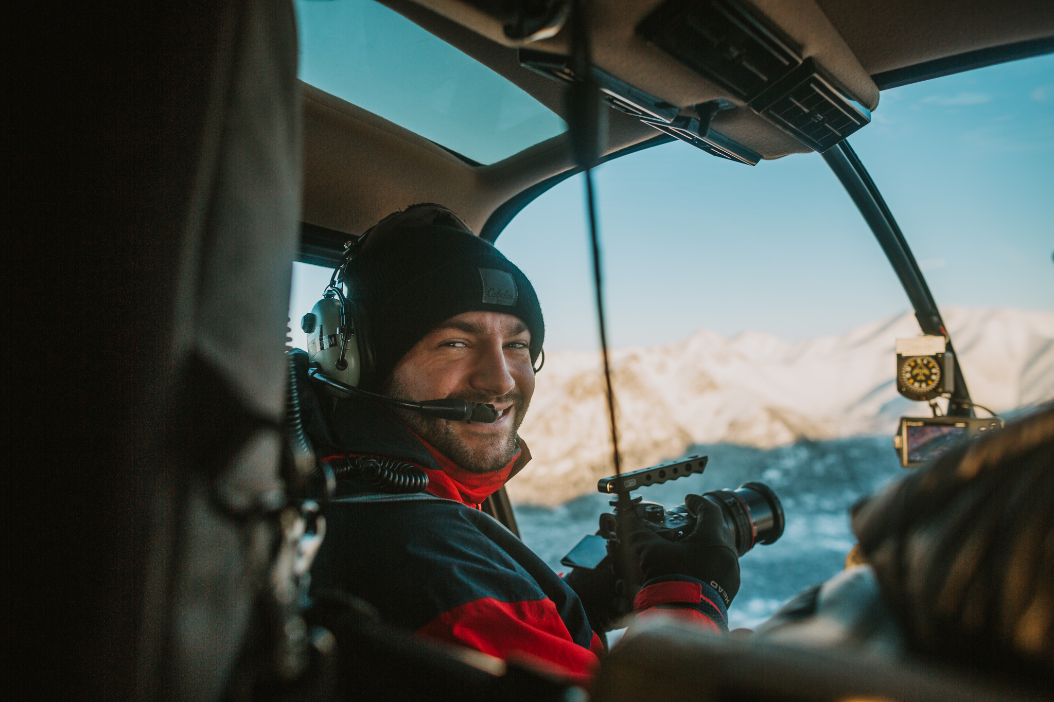 Me taking a helicopter trip to Knik Glacier.  Watch the video here.  PC  Lay Renner Photography