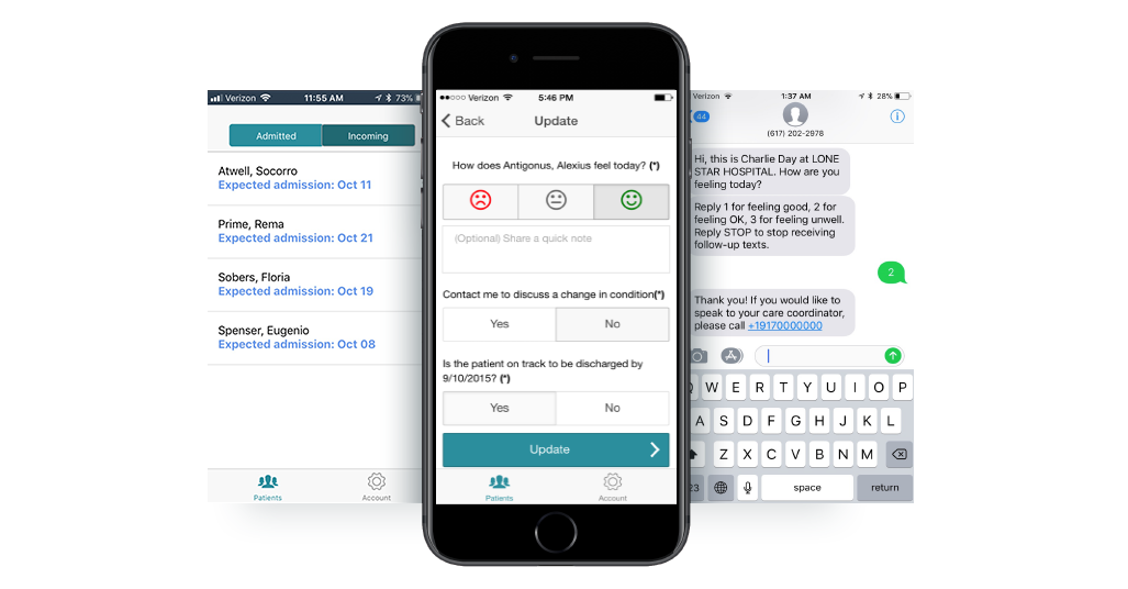 Multiple Patient Tracking Touchpoints - Archway Carelink helps track patient location and health status through mobile apps, text messaging, and interactive phone calls.