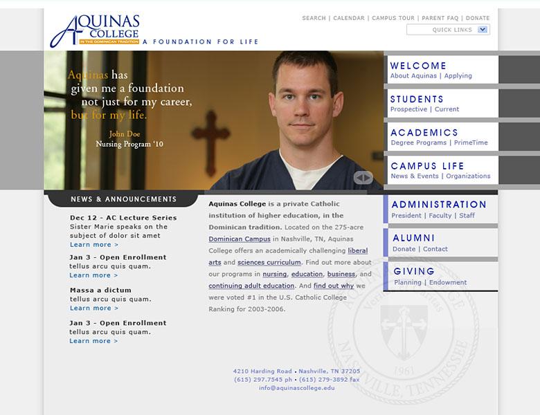 Custom design / build: Aquinas College Nashville