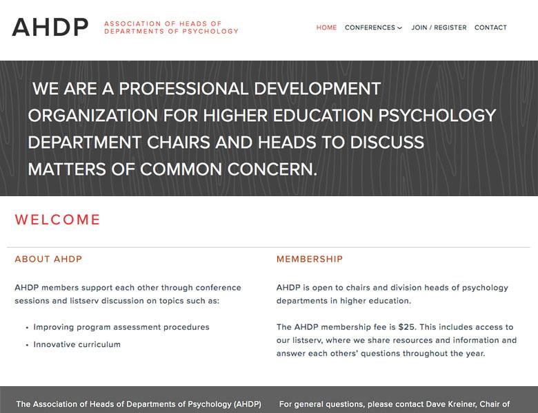 Squarespace design: AHDP
