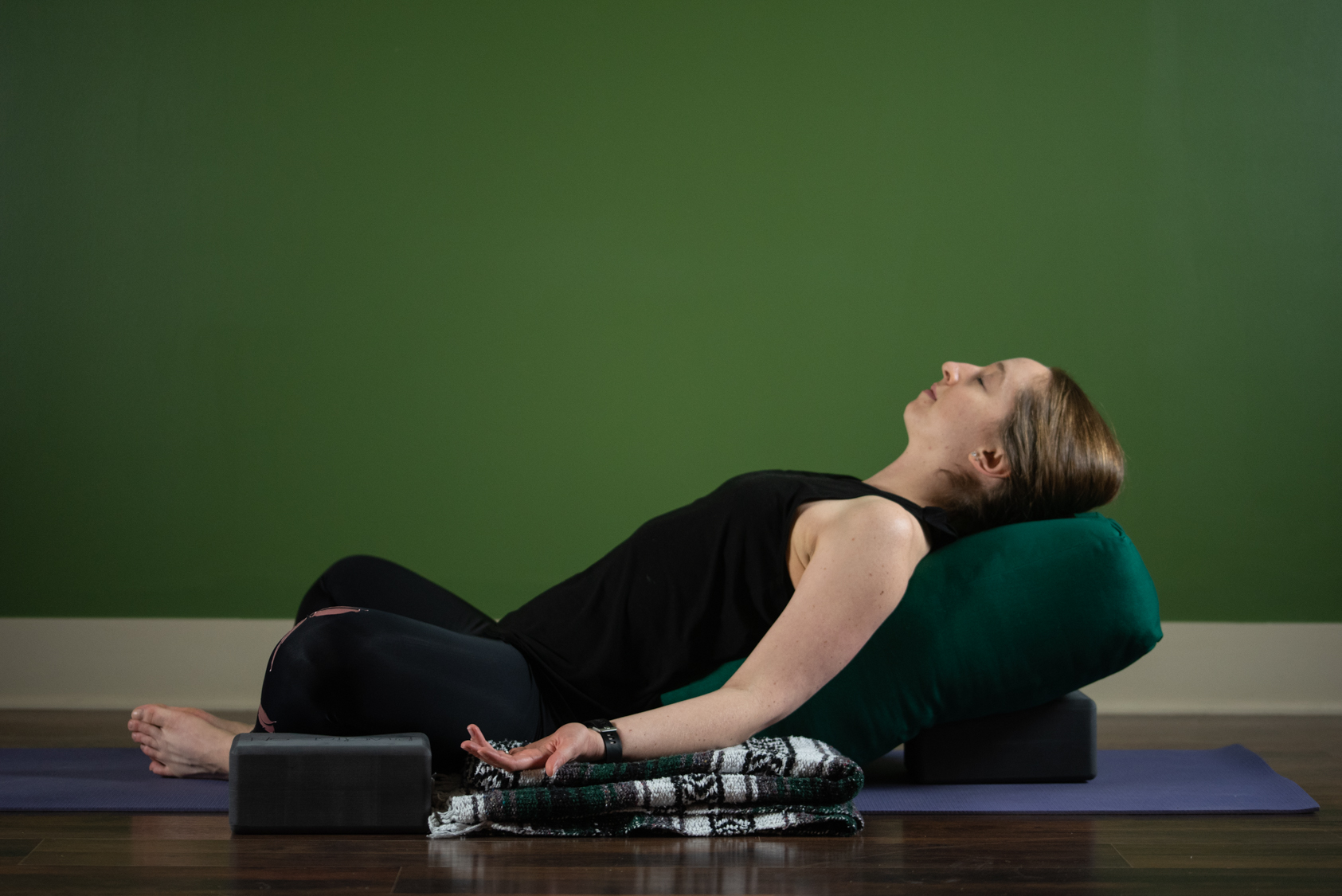 Restorative / Yin Yoga - A relaxing class as the perfect balance to our fast-paced culture. Each class includes a handful of poses held for several minutes. Guided meditation, calming mindful breathing, and props may all be used to help aid towards complete relaxation. For adults or kids 15 and up – all levels.
