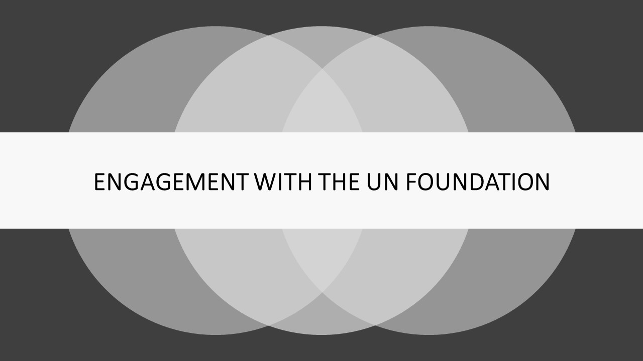 Invitations to select UN Foundation events and teleconferences, and opportunities to partner in UN Foundation initiatives (additional investment may be required).