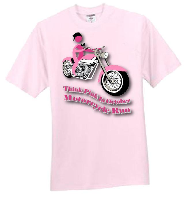 MotorCycle Run Pink T-Shirt.jpg