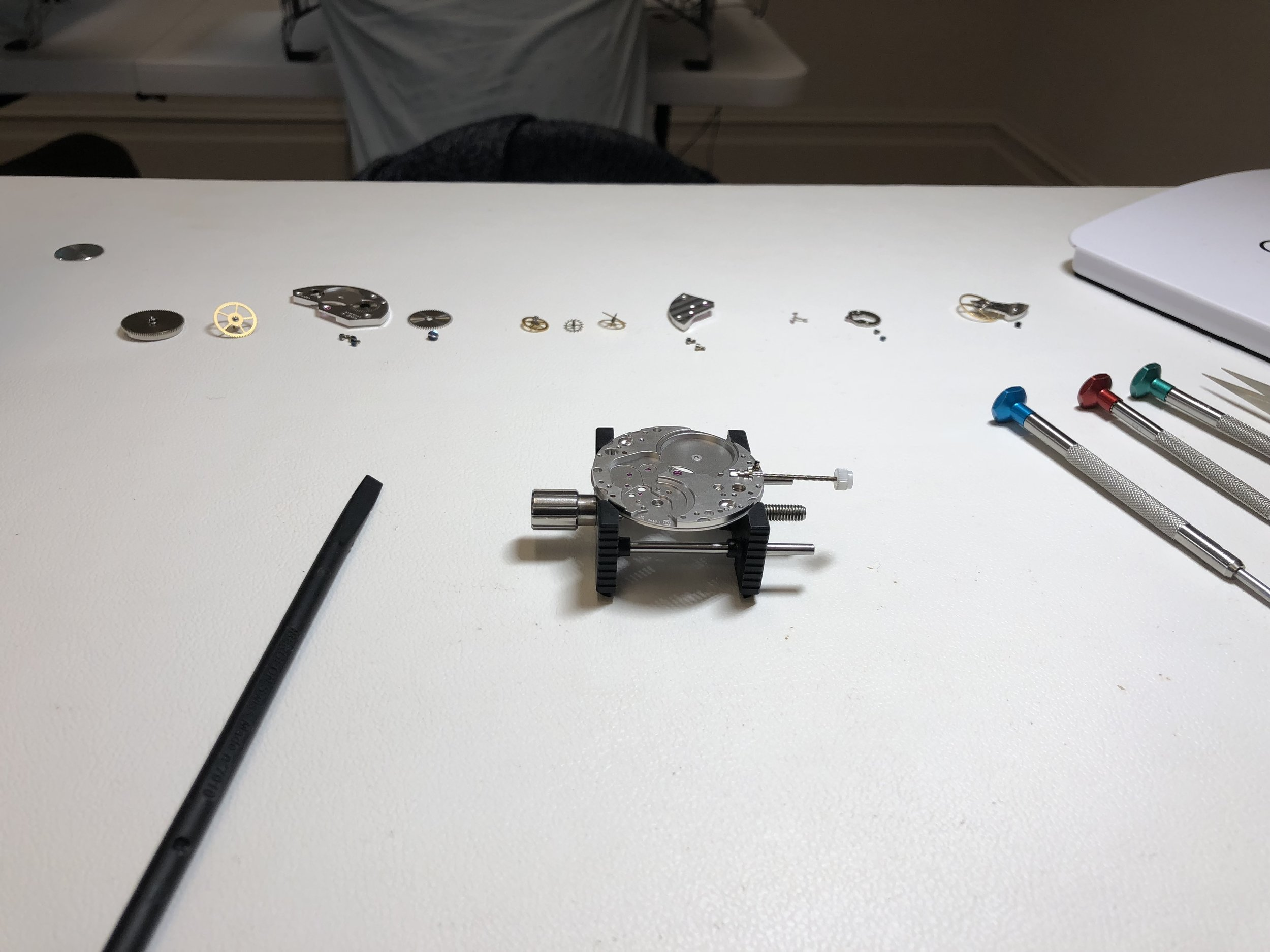 Deconstructed and ready for re-assembly
