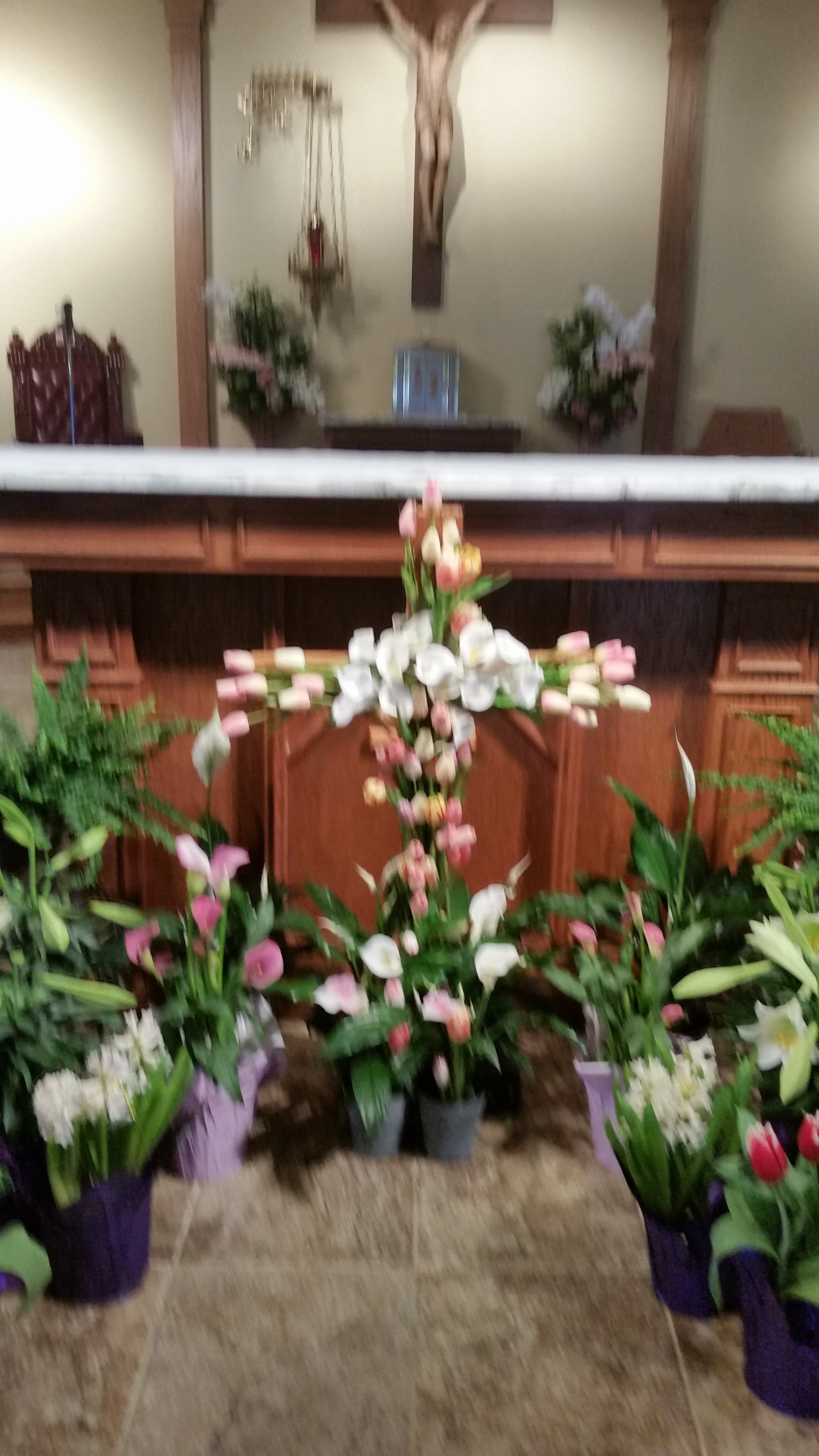 Easter altar decoration