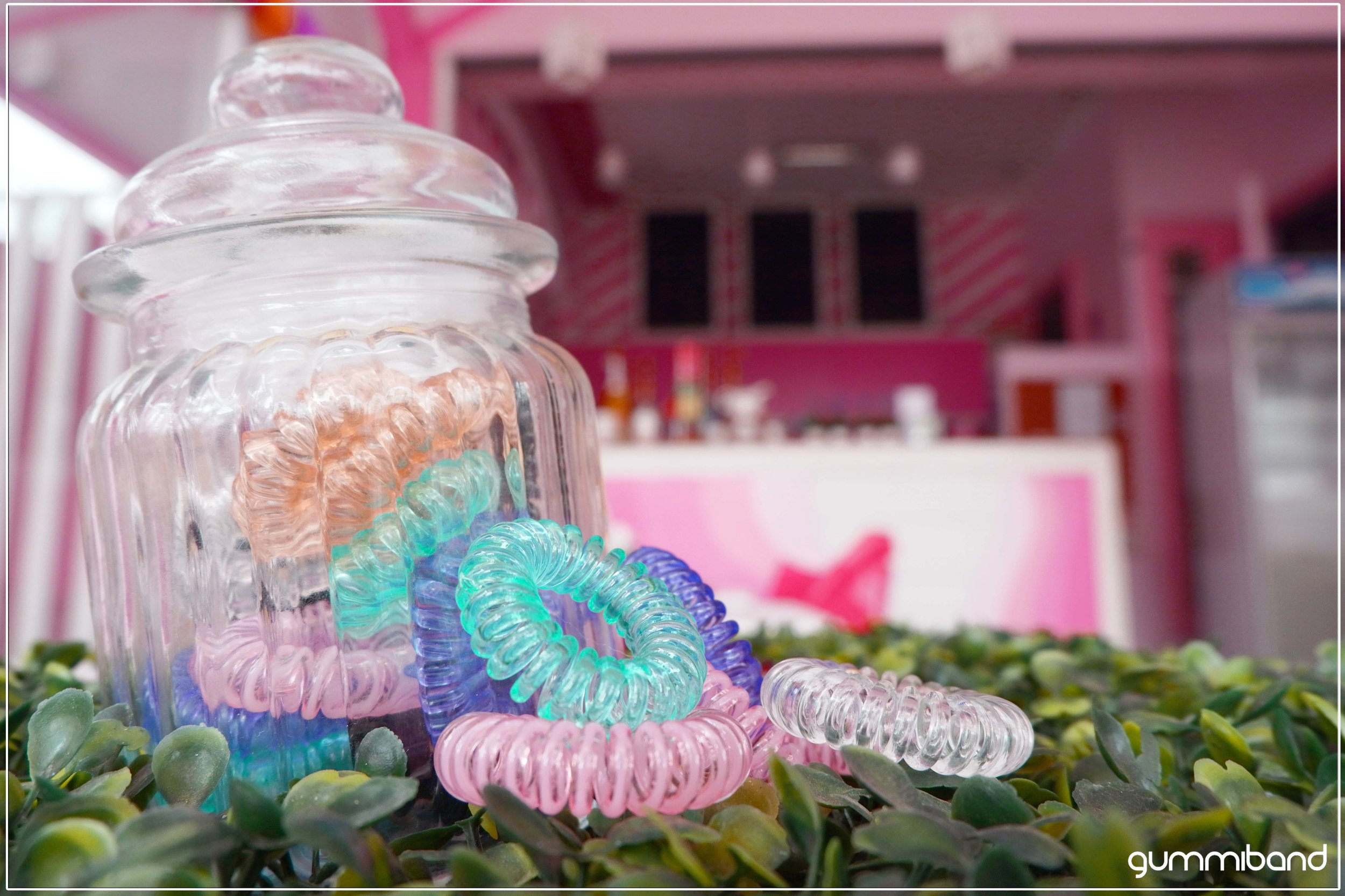 GummiBand Traceless Hair Cords in a candy jar