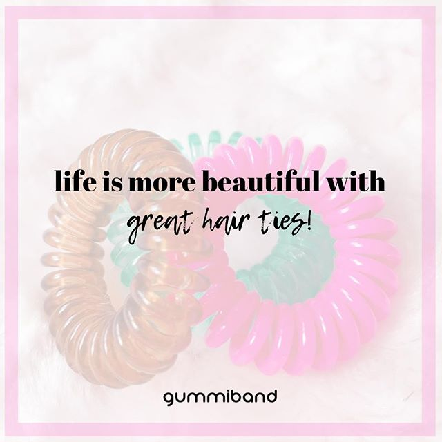 Better life with GummiBands!  Get them here: www.gummiband.ca  #gummibands #gummibandhair #traceless #haircords #haircord #hairstyle #hairaccessories #hairties #beauty #beautyreview #canadabloggers #canadianbloggers #canadabrand #canadasalon #canadashop #proudlycanadian #bbloggersca #bloggerscanada