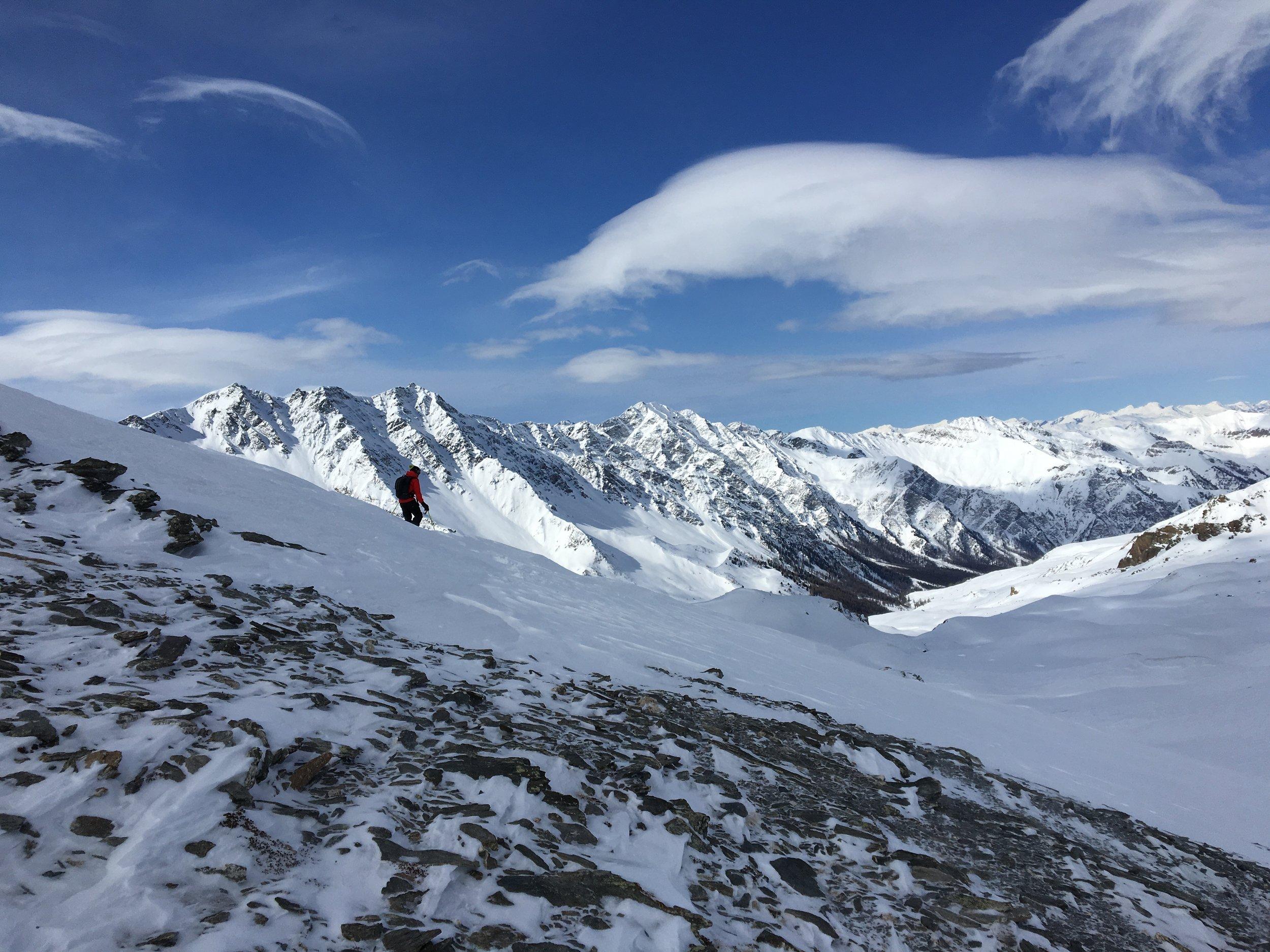 Ski touring in the nearby Queyras