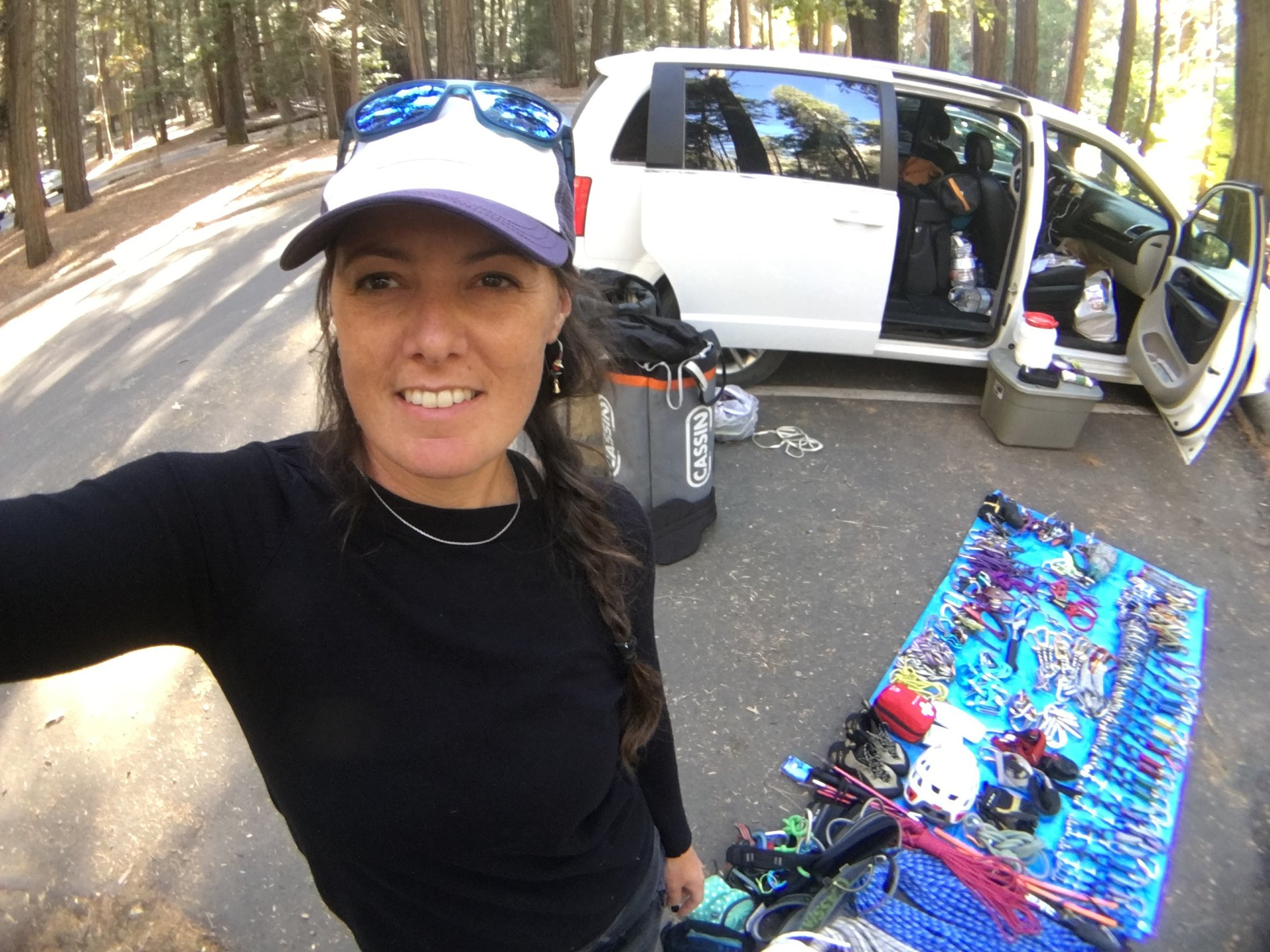 Julia Virat:  A local guide and Rab athlete, last year she fulfilled a life-long dream to solo El Capitan on Triple Direct - that includes three of Yosemite's classics!!