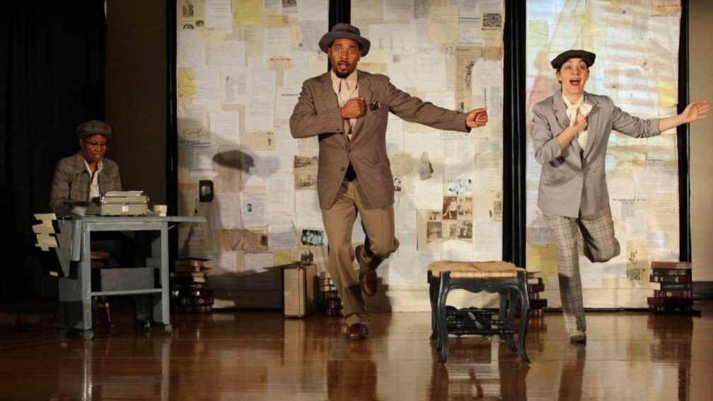 """Rasool Jahan, Jade Arnold, and Edith Snow in """"TO BUY THE SUN"""" a play about the life and work of Pauli Murray by Hidden Voices Theater Company."""