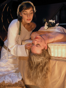 """Edith Snow as Gabby with Rachel Klem in """"The Bitter Tears of Petra Von Kant"""""""