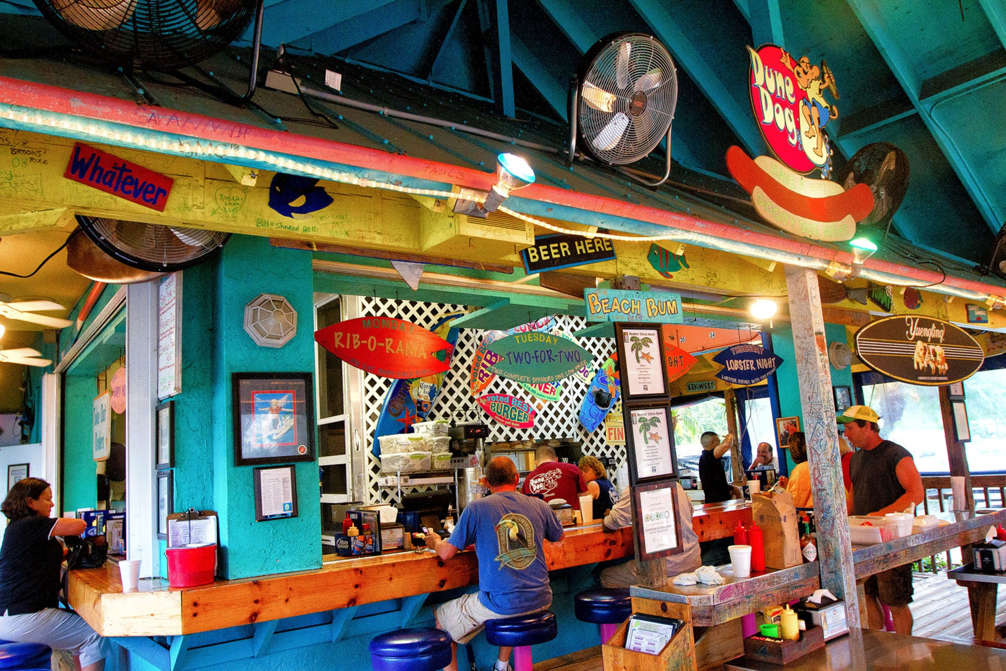 Dune Dog Cafe - Voted best ribs and hot dogs in the Palm Beach area!From the Dune Dog Cafe website: